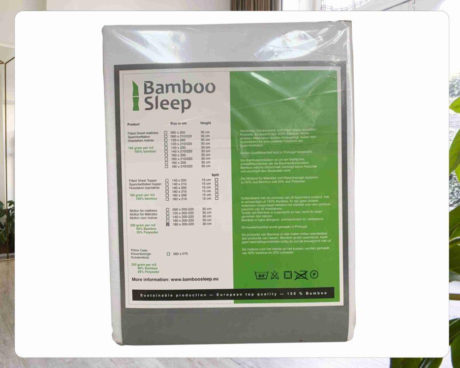 Bamboe molton voor matras