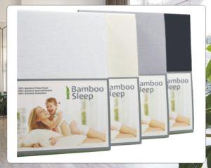 Hoeslaken Bamboe wit