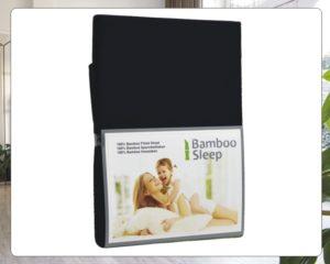 Hoeslaken Bamboe zwart
